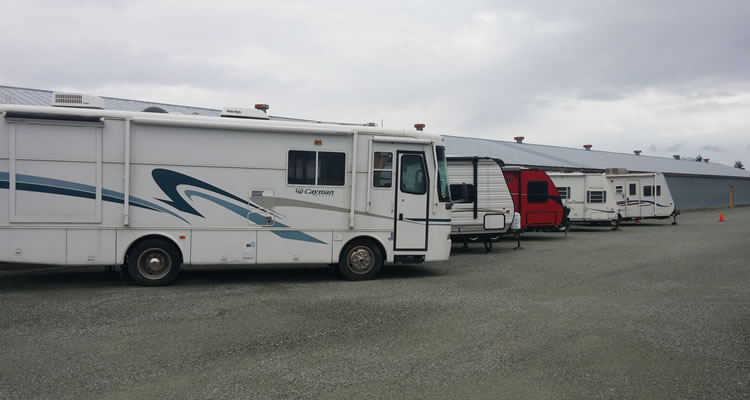 outdoor RV and trailer storage Sidney, Saanich, and Victoria.